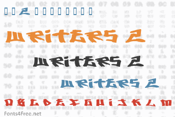 Writers 2 Font