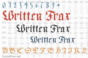 Written Frax Font