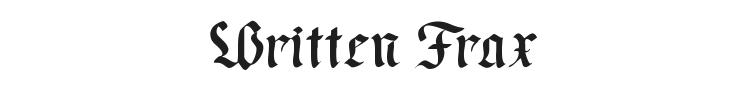 Written Frax Font Preview