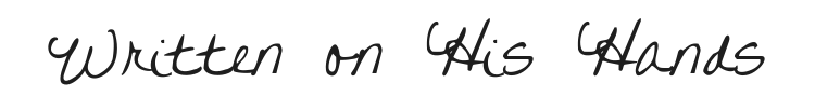 Written on His Hands Font Preview