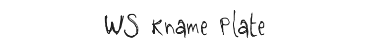 WS Kname Plate Font Preview