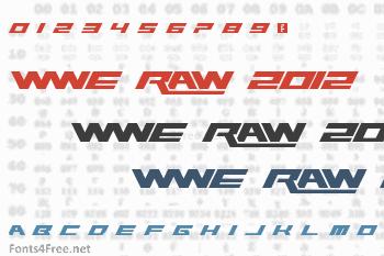 WWE Raw 2012 Font