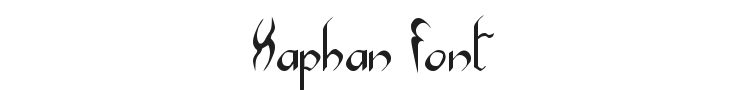 Xaphan Font Preview
