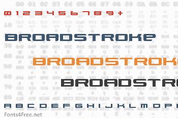 Xenotron Broadstroke Font