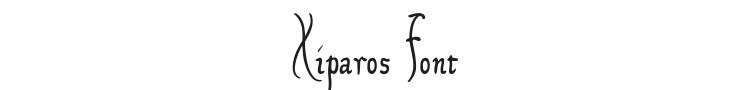 Xiparos Font Preview