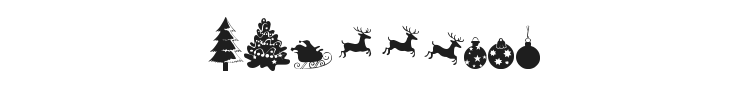Xmas TFB Christmas Font Preview