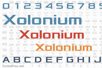 Xolonium Font