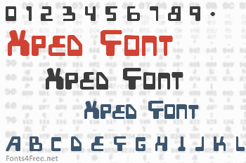 Xped Font