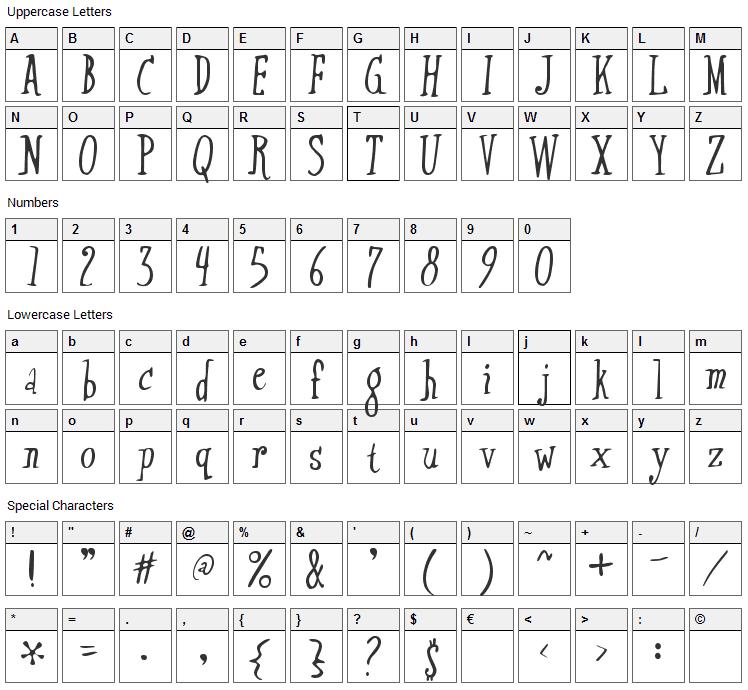 Xtraflexidisc Font Character Map