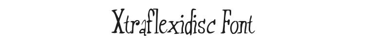 Xtraflexidisc Font Preview