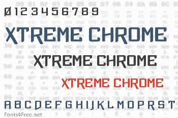 Xtreme Chrome Font