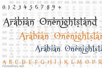 XXII Arabian Onenightstand Font