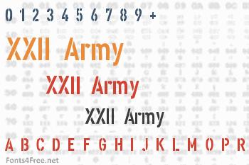 XXII Army Font