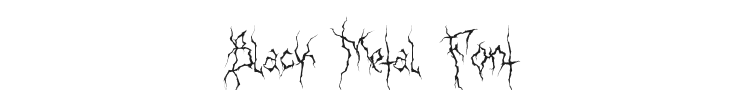 XXII Ultimate Black Metal Font Preview