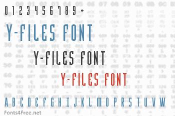 Y-Files Font