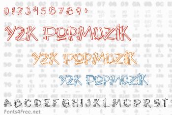 Y2K PopMuzik Font