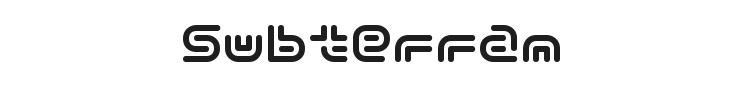 Y2k Subterran Express Font Preview