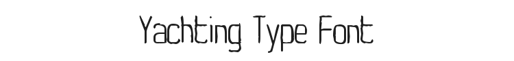 Yachting Type Font Preview
