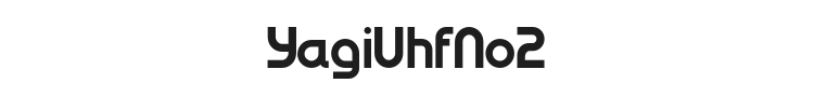 YagiUhfNo2 Font