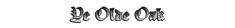 Ye Olde Oak Font Preview