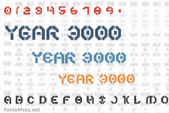 Year 3000 Font