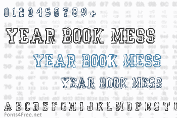 Year Book Mess Font