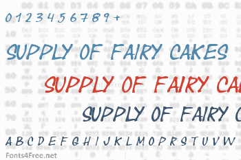 Year supply of fairy cakes Font