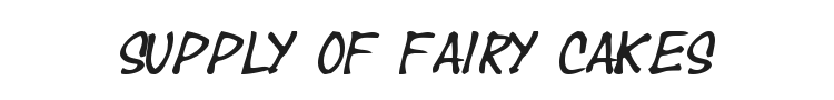 Year supply of fairy cakes Font Preview