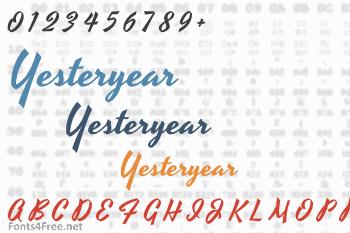 Yesteryear Font