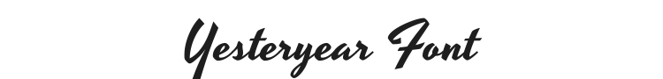 Yesteryear Font Preview