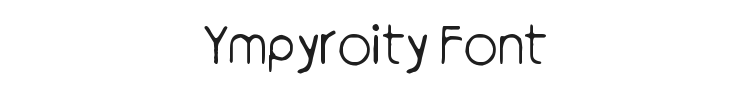 Ympyroity Font Preview