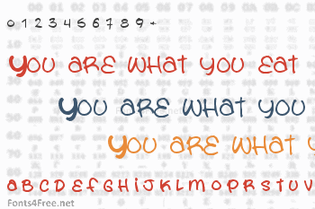 You are what you eat Font