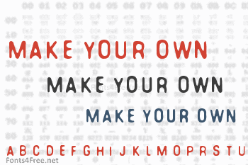 You can make your own font Font