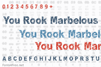 You Rook Marbelous Font