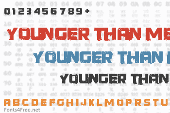 Younger Than Me Font