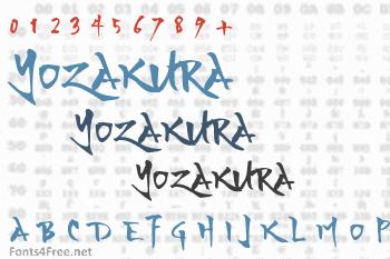 Yozakura Font