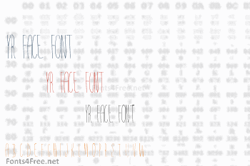 Yr Face Font