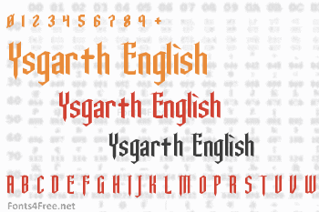 Ysgarth English Font