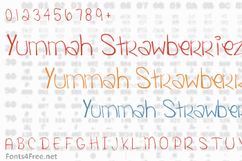 Yummah Strawberriez Font