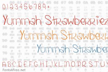 Yummah Strawberriez Font