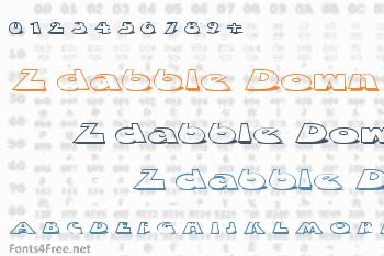 Z dabble Down Font