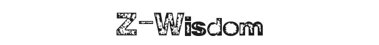Z-Wisdom Font Preview