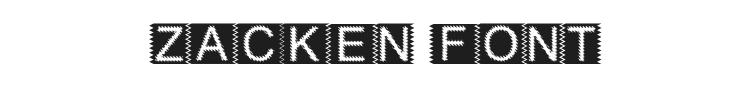 Zacken Font Preview