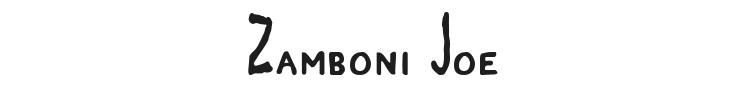 Zamboni Joe Font Preview