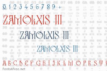 Zamolxis III Font
