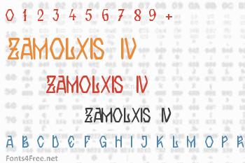 Zamolxis IV Font