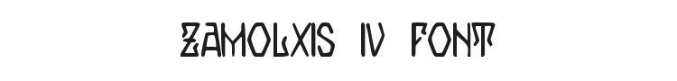 Zamolxis IV Font Preview