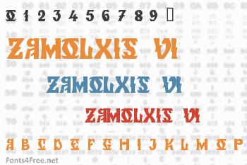 Zamolxis VI Font