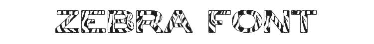 Zebra Font Preview