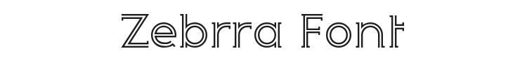 Zebrra Font Preview